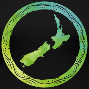 Map New Zealand T-Shirts - Women's Premium T-Shirt