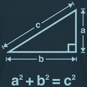Pythagorean Theorem (Mathematics) T-Shirts - Men's T-Shirt