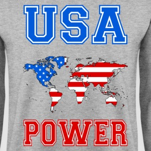 usa world power Hoodies & Sweatshirts - Men's Sweatshirt