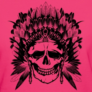 Indian Chief Skull T-Shirts - Women's Organic T-shirt