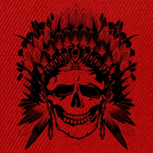 Indian Chief Skull Caps & Hats - Snapback Cap