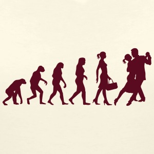 Evolution of Ladies Tango T-Shirts - Women's V-Neck T-Shirt
