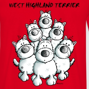 Cute West Highland White Terrier T-Shirts - Men's T-Shirt