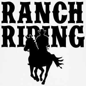 Ranch Riding Cowboy T-Shirts - Männer Slim Fit T-Shirt