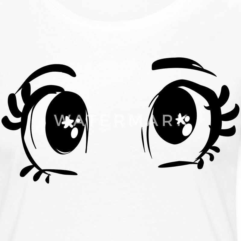 pull femme yeux manga - T-shirt manches longues Premium Femme