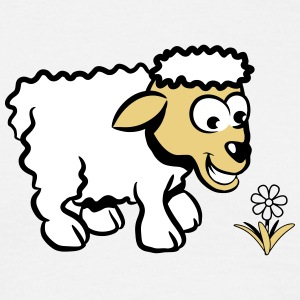 sheep , lamb, sweet flower T-Shirts - Men's T-Shirt