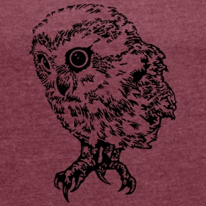Owl T-Shirts - Women's T-shirt with rolled up sleeves