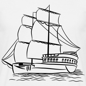 sailing ship old ship T-Shirts - Men's T-Shirt