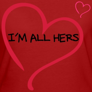 Couple I am all Hers T-shirts - Organic damer