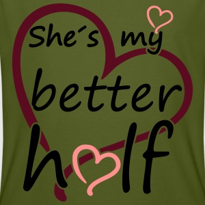 Couple Shes my Better Half T-Shirts - Männer Bio-T-Shirt