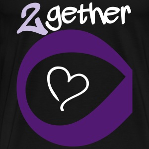 Couple Together forever Infinity T-skjorter - Premium T-skjorte for menn