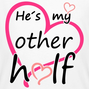 Couple He is my Other Half T-shirts - Mannen Bio-T-shirt