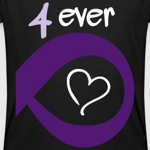 Couple Together forever Infinity T-shirts - Ekologisk T-shirt herr