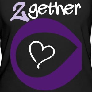 Couple Together forever Infinity T-shirts - Ekologisk T-shirt dam