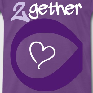 Couple Together forever Infinity T-shirts - Premium-T-shirt herr