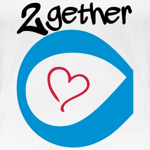 Couple Together forever Infinity T-shirts - Vrouwen Premium T-shirt