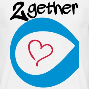 Couple Together forever Infinity T-Shirts - Männer T-Shirt