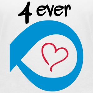Couple Together forever Infinity T-shirts - T-shirt med v-ringning dam