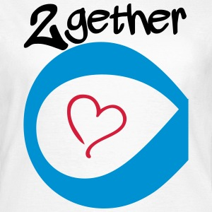 Couple Together forever Infinity Tee shirts - T-shirt Femme