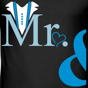 couple Mister Heart T-Shirts - Men's Slim Fit T-Shirt