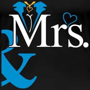 couple Misses Heart T-shirts - Vrouwen Premium T-shirt