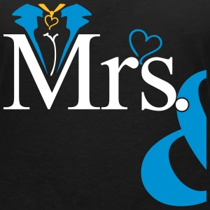 couple Misses Heart Tee shirts - T-shirt col V Femme