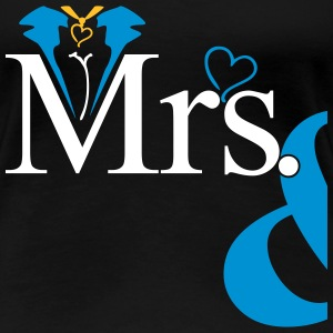 couple Misses Heart T-shirts - Dame premium T-shirt