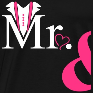 Couple Mister Heart T-shirts - Herre premium T-shirt