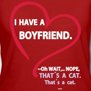 I have a Boyfriend Nope that is a Cat T-skjorter - Økologisk T-skjorte for kvinner