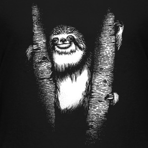 Black Sloth Shirts - Teenage Premium T-Shirt