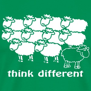 Think different le mouton noir au milieu des blanc - T-shirt Premium Homme