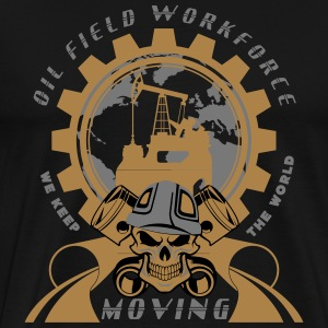 Oil Rig Tee Shirt Oil Field North Sea Aberdeen Sco - Men's Premium T-Shirt