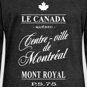 Le Canada - Centre-ville de Montréal Hoodies & Sweatshirts - Women's Boat Neck Long Sleeve Top