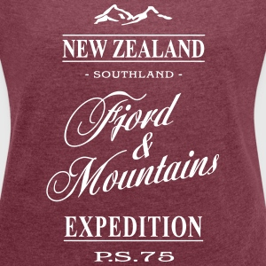 New Zealand T-Shirts - Women's T-shirt with rolled up sleeves