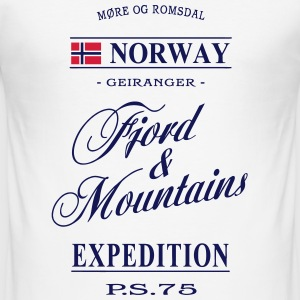 Norway - Fjord & Mountains T-Shirts - Men's Slim Fit T-Shirt