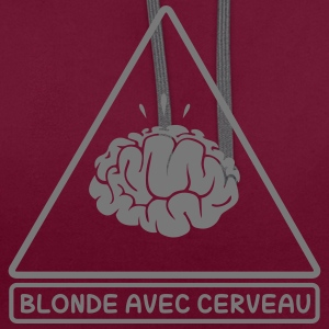 Blonde Avec Cerveau Sweat-shirts - Sweat-shirt contraste