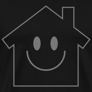 Smiley House T-shirts - Herre premium T-shirt