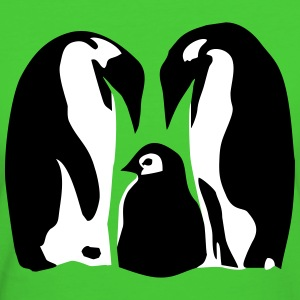 Penguins, Penguin family T-Shirts - Frauen Bio-T-Shirt