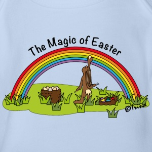 Osterhase Regenbogen The Magic of Easter T-Shirts - Baby Bio-Kurzarm-Body