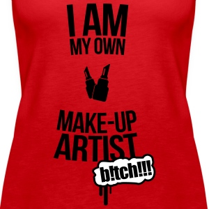 I am my own makeup artist Baker 2f Tops - Women's Premium Tank Top