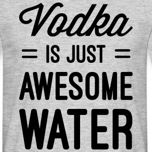 Vodka Awesome Water  T-skjorter - T-skjorte for menn