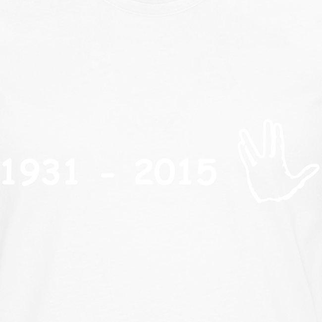 Leonard Nimoy Gedenkshirt 2015 Long
