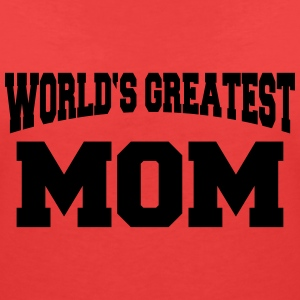 World's greatest Mom T-shirts - T-shirt med v-ringning dam