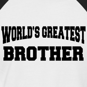 World's greatest Brother T-skjorter - Kortermet baseball skjorte for menn