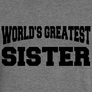 World's greatest Sister Sweat-shirts - Pull Femme col bateau de Bella