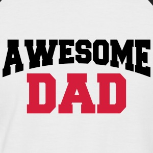 Awesome Dad Tee shirts - T-shirt baseball manches courtes Homme