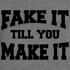 Fake it till you make it Sweaters - Vrouwen trui met U-hals van Bella