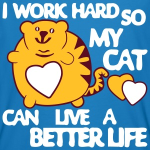 I Work Hard so my Cat can have a Better Life T-shirts - Ekologisk T-shirt herr