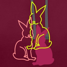 three rabbits Hoodies & Sweatshirts