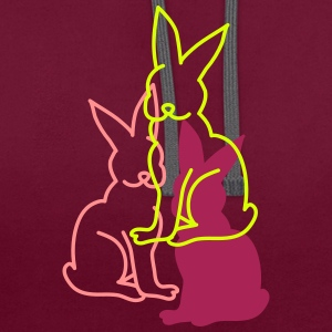 three rabbits Hoodies & Sweatshirts - Contrast Colour Hoodie